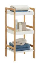 Badezimmerregal - Naturfarben/Weiß, Konventionell, Holz/Holzwerkstoff (36/80/33cm) - Xora