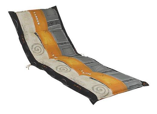 LIEGENAUFLAGE Streifen - Anthrazit/Naturfarben, Design, Textil (63/190/9cm)