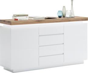 SIDEBOARD - vit/ekfärgad, Design, trä/träbaserade material (150/81/40cm)