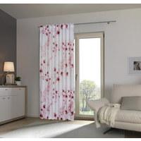 Fertigvorhang blickdicht - Rosa/Weiß, Trend, Textil (140/245cm) - Esposa
