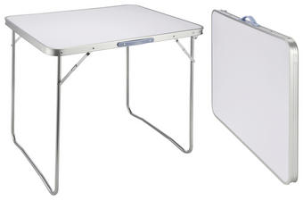 CAMPINGTISCH - Silberfarben/Weiß, Basics, Metall (80/69/60cm)