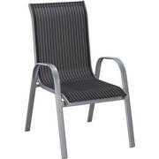 STAPELSESSEL - Silberfarben/Schwarz, Design, Textil/Metall (55/96/72cm) - Xora