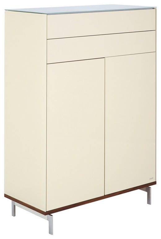 HIGHBOARD Walnuss massiv lackiert Beige, Nussbaumfarben - Beige/Nussbaumfarben, Design, Holz/Holzwerkstoff (102/151/46cm) - Joop!