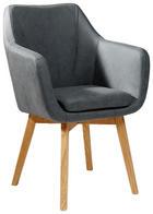 KARMSTOL - svart/ekfärgad, Design, trä/textil (56/82/55cm) - Carryhome