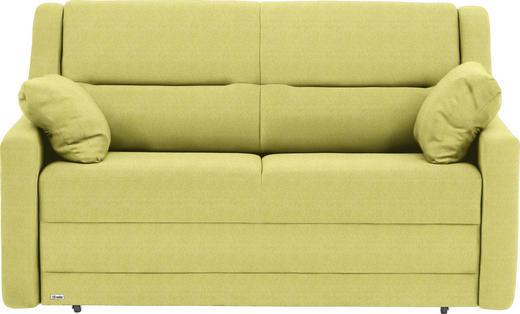 SCHLAFSOFA in Textil Hellgrün - Schwarz/Hellgrün, KONVENTIONELL, Kunststoff/Textil (152/88/91cm) - Sedda