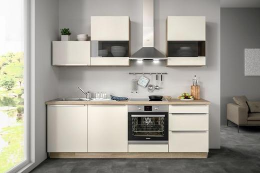 Küchenblock ohne E-Geräte 240,5 cm - Eichefarben/Magnolie, Design (240,5cm) - Set one by Musterrin