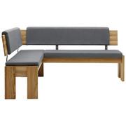 KOTNA KLOP, les, tekstil hrast, siva - siva/hrast, Konvencionalno, tekstil/les (167/192cm) - Voleo
