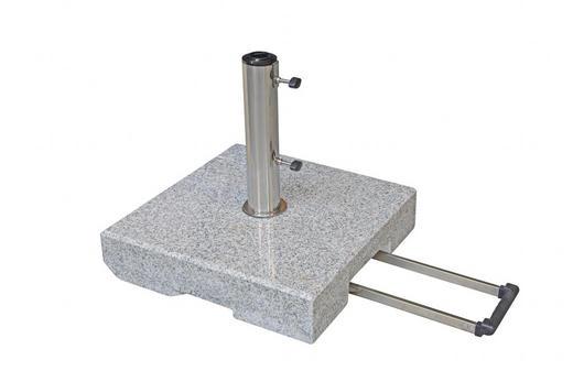 SONNENSCHIRMSTÄNDER Granit Grau - Grau, Basics, Stein (50/11/50cm)