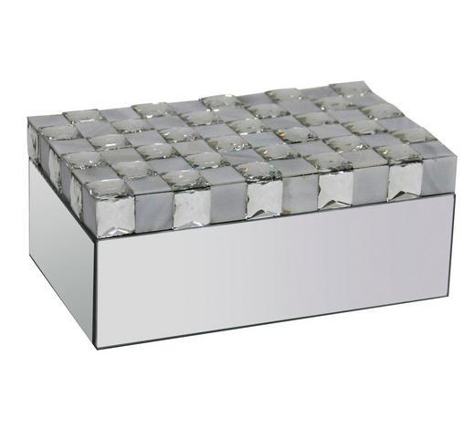 SCHMUCKBOX - Silberfarben, Trend, Glas (20,4/12,8/8,5cm) - Ambia Home
