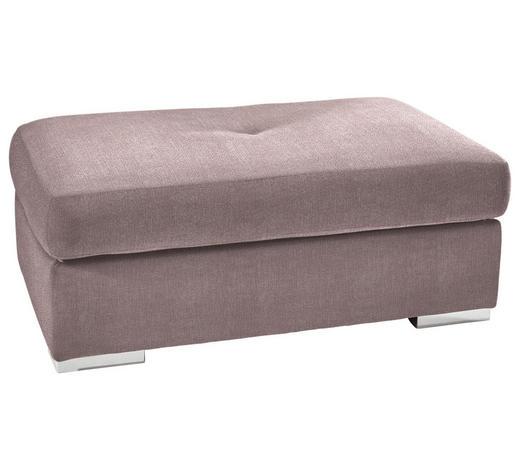 HOCKER in Textil Rosa  - Chromfarben/Rosa, KONVENTIONELL, Kunststoff/Textil (118/46/67cm) - Carryhome