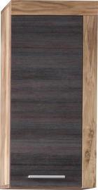 HÄNGESCHRANK Dunkelbraun - Dunkelbraun/Silberfarben, Design, Holzwerkstoff/Kunststoff (36/79/23cm) - Xora