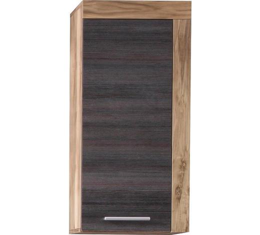 HÄNGESCHRANK 36/79/23 cm - Dunkelbraun/Silberfarben, Design, Holzwerkstoff/Kunststoff (36/79/23cm) - Xora