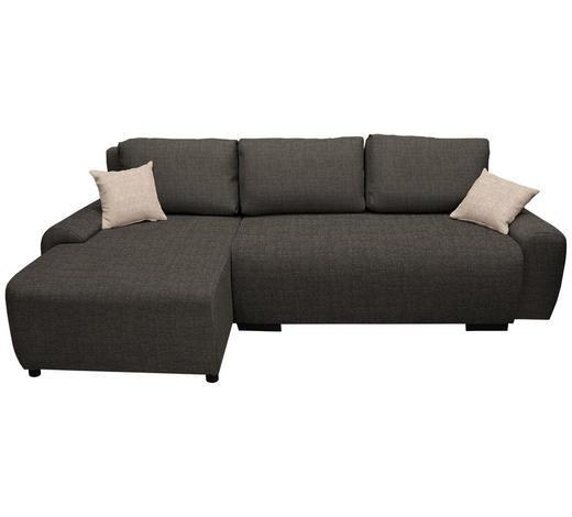 WOHNLANDSCHAFT in Textil Hellbraun - Hellbraun/Beige, Design, Kunststoff/Textil (133/240cm) - Ti`me