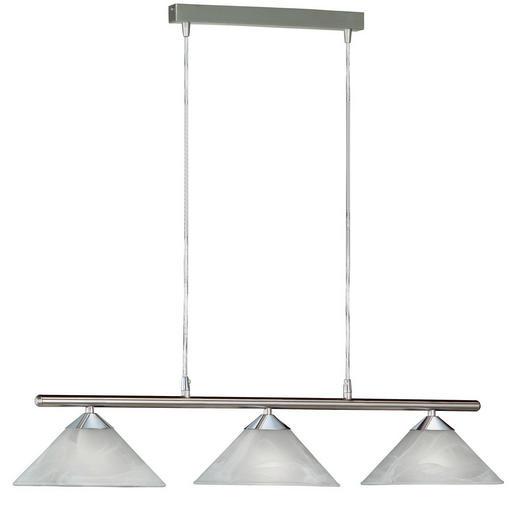 HÄNGELEUCHTE - Weiß, KONVENTIONELL, Glas/Metall (87cm)