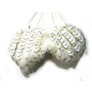 ANGELSKA KRILA A21265B - bela, Basics, tekstil (38/23/4cm) - X-Mas