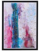 Abstraktes BILD  - Multicolor/Schwarz, Trend, Kunststoff/Textil (50/70cm) - Monee