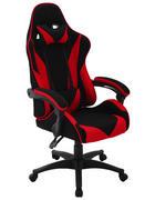PISARNIŠKI STOL kovina, umetna masa, tekstil rdeča, črna  - rdeča/črna, Design, kovina/umetna masa (65/132/67cm) - Xora
