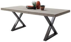 ESSTISCH in Metall, Holzwerkstoff 225/100/78 cm   - Grau, Basics, Holzwerkstoff/Metall (225/100/78cm) - Xora