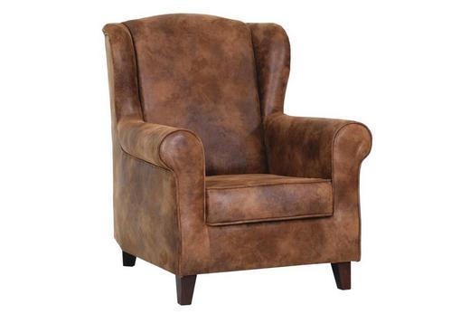 KŘESLO, hnědá, textil - hnědá, Lifestyle, dřevo/textil (82/101/85cm) - LANDSCAPE