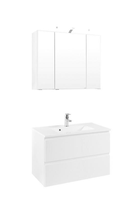 BADEZIMMER Weiß - Weiß, Design (80/200/47cm) - Xora