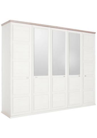 OMARA S KLASIČNIMI VRATI, siva, bela - siva/bela, Trendi, kovina/steklo (255/209/60cm) - Hom`in