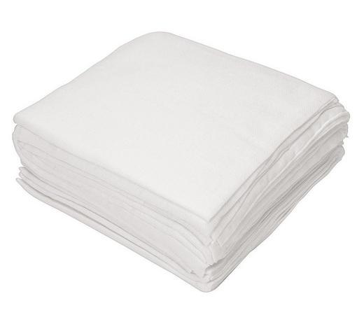 SADA LÁTKOVÝCH PLEN - bílá, Basics, textil (80/80cm) - My Baby Lou