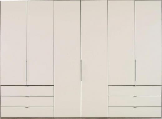 FALTTÜRENSCHRANK 3-türig Creme, Trüffeleichefarben - Trüffeleichefarben/Creme, KONVENTIONELL, Glas/Holzwerkstoff (300/216/58cm) - Venda