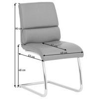 SCHWINGSTUHL Echtleder Hellbraun   Hellbraun, Design, Leder/Metall (49/63/  ...