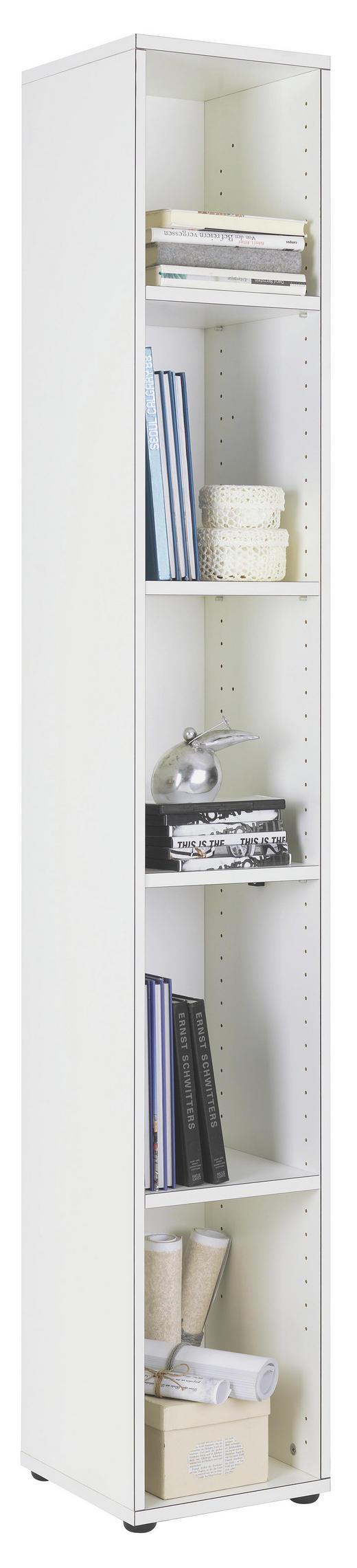 REGAL Weiß - Schwarz/Weiß, Design, Holzwerkstoff/Kunststoff (30/195,5/32,5cm) - WELNOVA