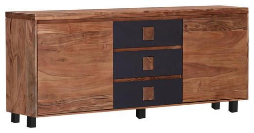 SIDEBOARD Akazie massiv gebeizt, gewachst, lackiert Akaziefarben, Anthrazit - Anthrazit/Akaziefarben, Natur, Holz (180/80/40cm) - Carryhome