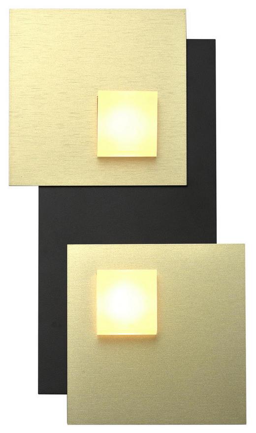LED-DECKENLEUCHTE - Goldfarben/Schwarz, Basics, Metall (30/15/3,5cm)