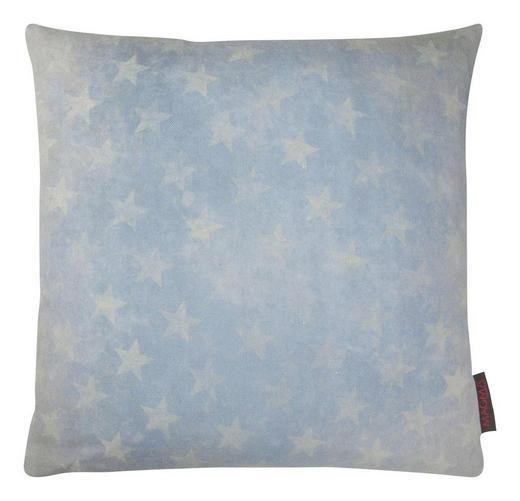 KISSENHÜLLE Blau, Grau - Blau/Grau, Design, Textil (50/50cm)