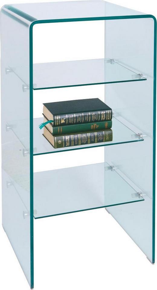 BEISTELLTISCH quadratisch Klar - Klar, Design, Glas (40/80/40cm)