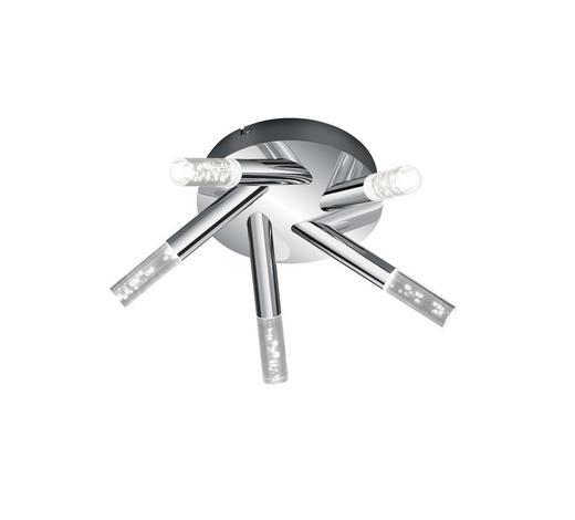 BADEZIMMER-DECKENLEUCHTE - Klar/Chromfarben, Design, Kunststoff/Metall (41,5/16,5cm)