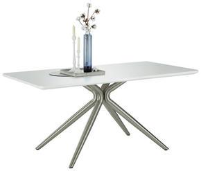 MATBORD - vit/rostfritt stål-färgad, Design, metall/träbaserade material (160/90/76cm) - Novel