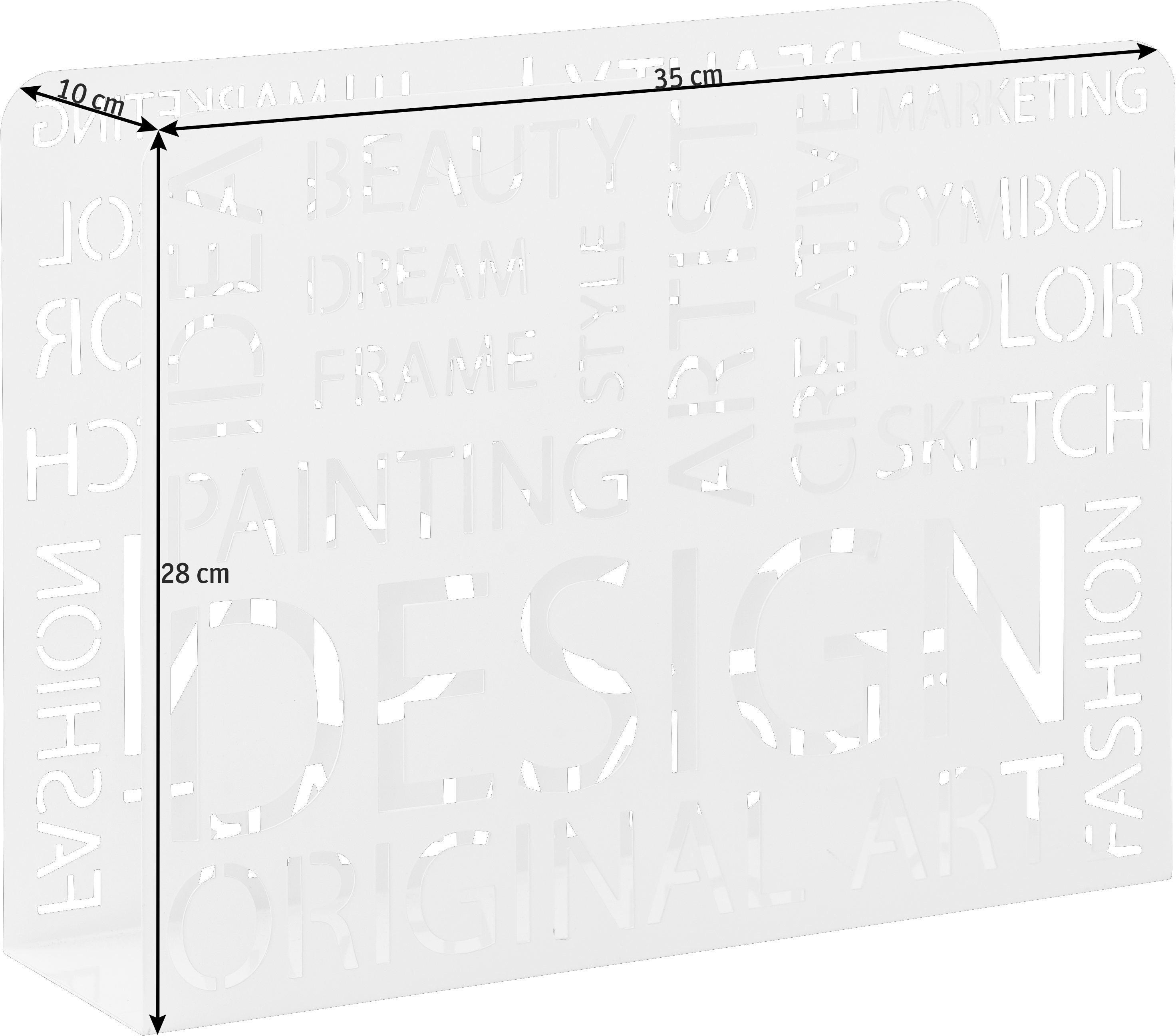 ZEITUNGSSTÄNDER Metall Weiß - Weiß, Design, Metall (35/28/10cm)