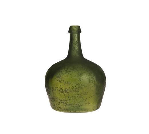 VASE 26 cm  - Olivgrün, LIFESTYLE, Glas (26cm)