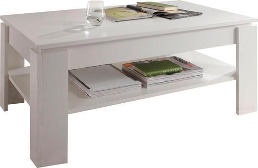 COUCHTISCH rechteckig Weiß - Weiß, Design (110/65/47cm) - Carryhome