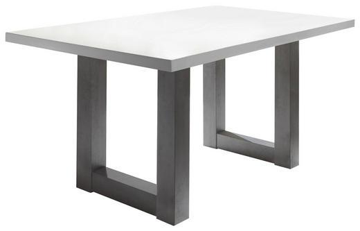 ESSTISCH rechteckig Graphitfarben, Weiß - Graphitfarben/Weiß, Design (140/90/75cm) - Carryhome