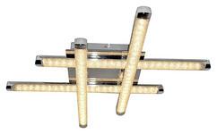LED-DECKENLEUCHTE - Klar, MODERN, Kunststoff/Metall (49/49/8,5cm) - Novel