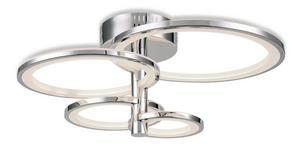 LED-DECKENLEUCHTE   - Chromfarben, Design, Kunststoff/Metall (65/65/29cm) - Ambiente