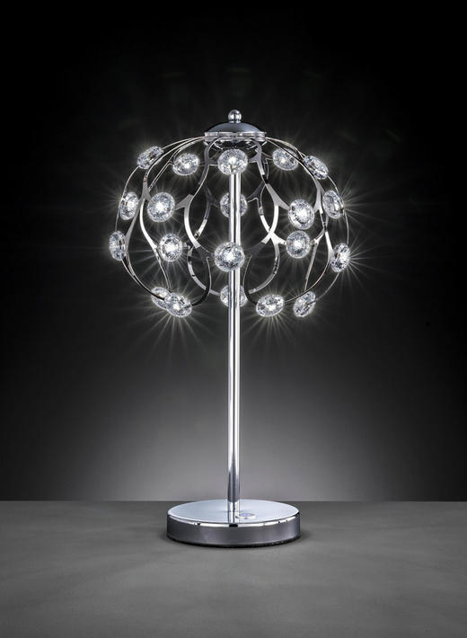 LED-TISCHLEUCHTE - Chromfarben, MODERN, Kunststoff/Metall (25/49/25cm) - Wofi