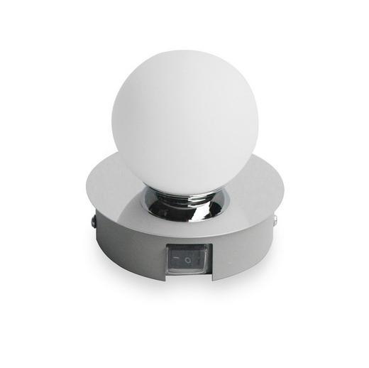 BADEZIMMER-WANDLEUCHTE - Chromfarben, Design, Glas/Metall (11/11/10,5cm) - Celina