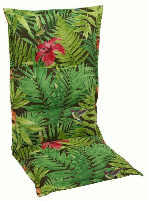 SESSELAUFLAGE Floral - Grün, Design, Textil (50/120cm)