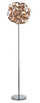 LED-STEHLEUCHTE - Kupferfarben, Design, Metall (42/171cm) - Ambiente