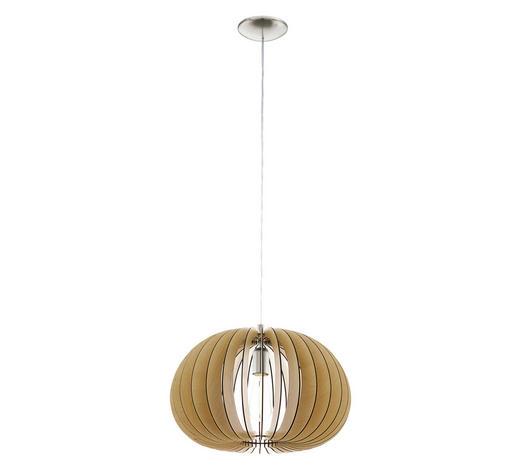 HÄNGELEUCHTE - Ahornfarben, Design, Holz/Metall (45/110cm)