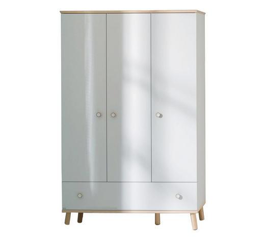 KLEIDERSCHRANK in Weiß, Birkefarben - Birkefarben/Weiß, Design, Holz/Holzwerkstoff (125,1/198,7/56,3cm) - Paidi