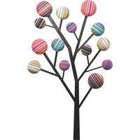 WANDGARDEROBE Multicolor - Multicolor, Design, Textil/Metall (65/111/7cm) - Kare-Design