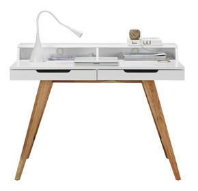 SKRIVBORD - vit/brun, Design, trä/träbaserade material (110/85/58cm) - Carryhome