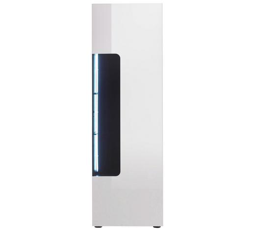 VITRINE Schwarz, Weiß  - Schwarz/Weiß, Design, Glas/Holzwerkstoff (51/161/38cm)